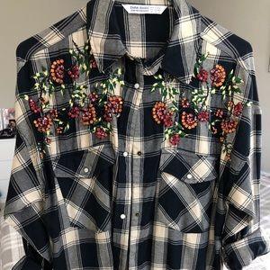 Zara embellished flannel